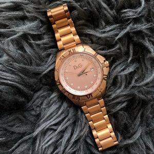 Dolce & Gabbana rose gold wrist watch